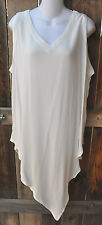 """ART TO WEAR MISSION CANYON 75 LONG TANK IN CLASSIC SOLID WHITE, OS, 50""""B!"""