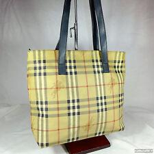 Vintage Burberry Haymarket Check Medium Shoulder Tote Handbag Purse