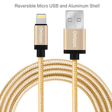 MFI 3FT Nylon Braided iPhone 6/6 Plus/5S USB Data Lightning Charging Cable Cord