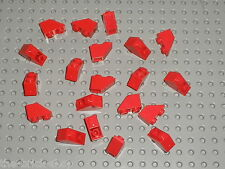 20 x LEGO Red Slope Brick ref 3665 / Set 7822 3724 1923 6385 5591 7208 ...