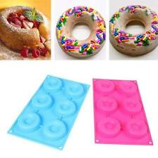 6 Cavity Silicone Soap Cake Mold Chocolate Muffin Donut Baking Mould Pan
