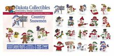 Dakota Collectibles Embroidery Machine Design CD - Country Snowmen 970447