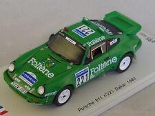 Spark SF035 - PORSCHE 911 n°221 Dakar 1988 Jabouille - Levent 500ex 1/43