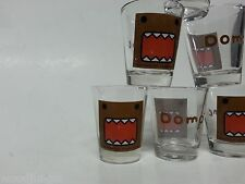 6 DOMO KUN  SHOT GLASSES GLASS DOMOKUN NICE! JAPAN BAR sake wine beer kampai
