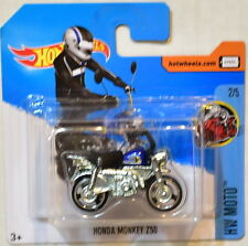 HOT WHEELS 2017 HW MOTO HONDA MONKEY Z50 #2/5 BLUE SHORT CARD