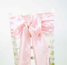TAFFETA CHAIR SASHES+MATCHING TABLE RUNNERS - WEDDING DECOR EVENTS - 48 COLOURS!