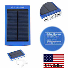 50000mAh Portable Solar Charger Dual USB External Battery Power Bank For Phone