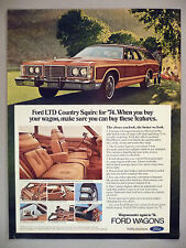 Ford LTD Country Squire Station Wagon PRINT AD - 1973 ~ 1974 model