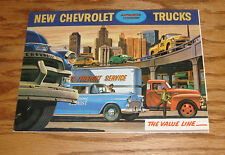 1955 Chevrolet Truck Full Line Foldout Sales Brochure 55 Chevy 1st Series