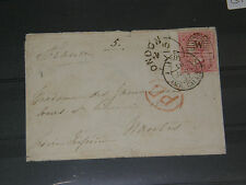 (G197) 1857 QV COVER TO CALAIS WITH 4d STAMP