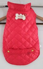 New Live Love Bark Quilted Puffer For Medium Sized Dog Juicy Pink Color