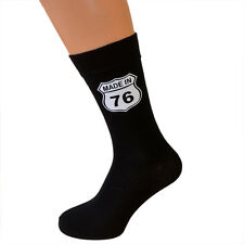 Made in 1976 40th Birthday Socks American Highway Sign Style