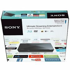 Sony BDP-S1200 Blu-Ray/DVD Disc Player with Streaming, Wired UD BPDS1200 In Box