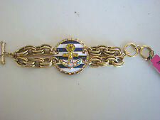"BETSEY JOHNSON ""SHIP SHAPE COLLECTION"" ANCHOR STATEMENT TOGGLE BRACELET"