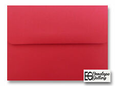 50 Boxed Holiday Red A7 Envelopes for 5 x 7 Greeting Cards Shower Invitation Lot