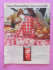 1968 Magazine Advertisement Page Featuring Accent Food Seasoning Picnic Ad