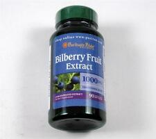 FRESH Puritans Pride BILBERRY FRUIT EXTRACT 1000mg Eye Vision Health 90 Softgels