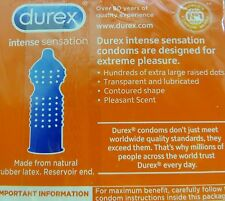 (Pack of 12) Durex Intense Sensation Condoms with Extra Large Dots - EXP 2017