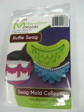 Marvelous Molds Swag Collection -Ruffle Swag- fondant gum paste cake