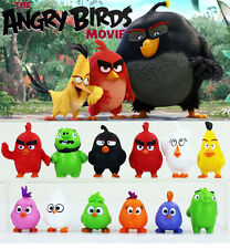 12 pcs/set Angry Birds Figures 3-5 cm Toys doll cartoon movie gift FREE SHIPPING