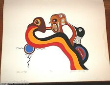 JACKSON BEARDY 1944 - 1984 Woodlands artist signed & numbered print FLOW OF LIFE