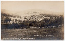 Real Photo Postcard Birds Eye View of Wardsboro, Vermont~106896