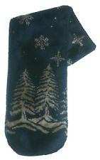 Twilight Snowflakes Plush Fleece Scarf
