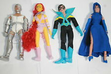 The New Teen Titans 8 Inch Action Figures; Set Of 4 ;Loose In Polybag New