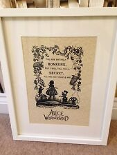 Alice in wonderland scene art poster classic cat vintage mad print unframed