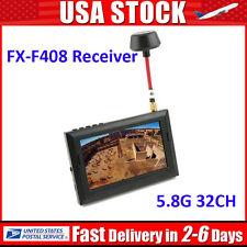 FX-F408 LCD 5.8G 32Ch FPV Monitor Wireless Receiver Wired AV Display w/Sunshade