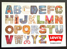 *Vintage* 1983 LEVI'S Kid Stuff ALPHABET POSTER New Old Stock LEVI STRAUSS JEANS