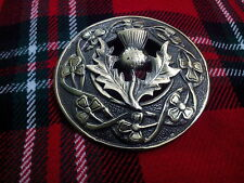 TC Kilt Highland Volar Cuadros Broches Cardo ANTIGUO / Escocés / L