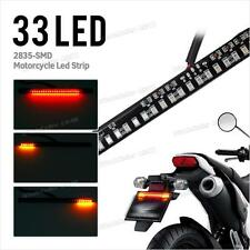 Universal Motorcycle License Plate Light Strip Tail Brake Stop Turn Signal 33LED