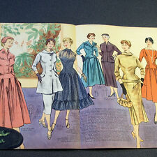 1950s GERMAN FASHION & SEWING PATTERN MAGAZINE - Vintage 50s EVENING DRESSES
