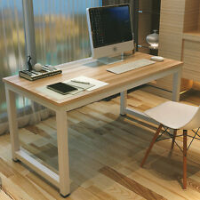 Modern Wooden & Metal Computer PC Home Office Desk / Study Table Bedroom NEW