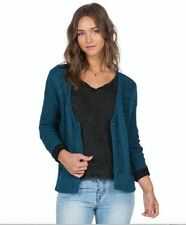 2016 NWT WOMENS VOLCOM CABLE CAR CARDIGAN $60 S stormy blue