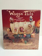 NEW /RARE Enesco Waggin Tails Cowboys & Indians Mice Multi-Action Music Box