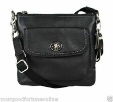 NEW Coach Park Pebble Black Leather Pocket Cross body Swing pack Shoulder 49170