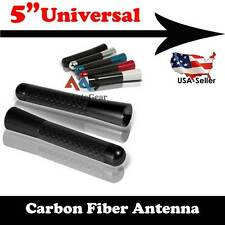 "JDM Style Black 5"" inch 76mm Carbon Fiber Screw Type Short Antenna Vehicle Car"