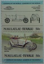 1910 AUSTRO DAIMLER PRINCE HENRY Car Stamps (Leaders of the World / Auto 100)