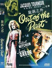 Out Of The Past All Region DVD Robert Mitchum, Jane Greer, Kirk Douglas NEW UK