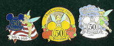 2005 DISNEYLAND 50TH 4TH OF JULY/THANKSGIVING/CHRISTMAS TINK CAST AWARD 3 PINS