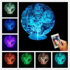 Star Wars Rogue One 3D USB Death Star Color Changing Lamp LED Desk Night Light