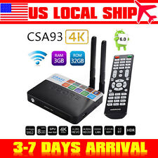 3GB/32GB Smart TV Box Android6.0 4K Wifi  HDMI Media Player Fully Loaded BT4.0