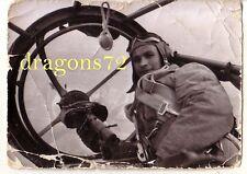 Foto Westfront Frankreich 1940 Flugzeug He-111?MG-Kanzel+Bordschütze+mehr orig.