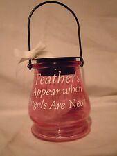 Feathers Appear Solar Glass Memorial Jar Light