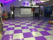 Purple  Garage Floor Tiles Made In USA - FREE SHIPPING - Diamond plate