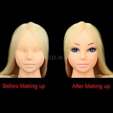 Professional Cosmetology Training Head Model Face Makeup Long Hair Practice 9C68