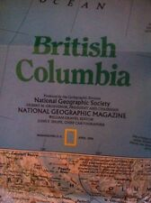 National Geographic British Columbia Map April 1992