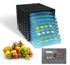 8 Tray Commercial Food Dehydrator Electric Dryer Blower Jerky Fruit Meat w/Timer